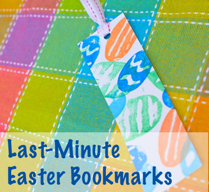 Val's Crafty Corner Last Minute Easter Bookmark