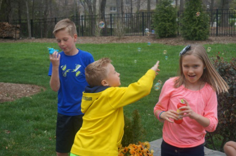 Blowing Bubbles as a Skill Builder