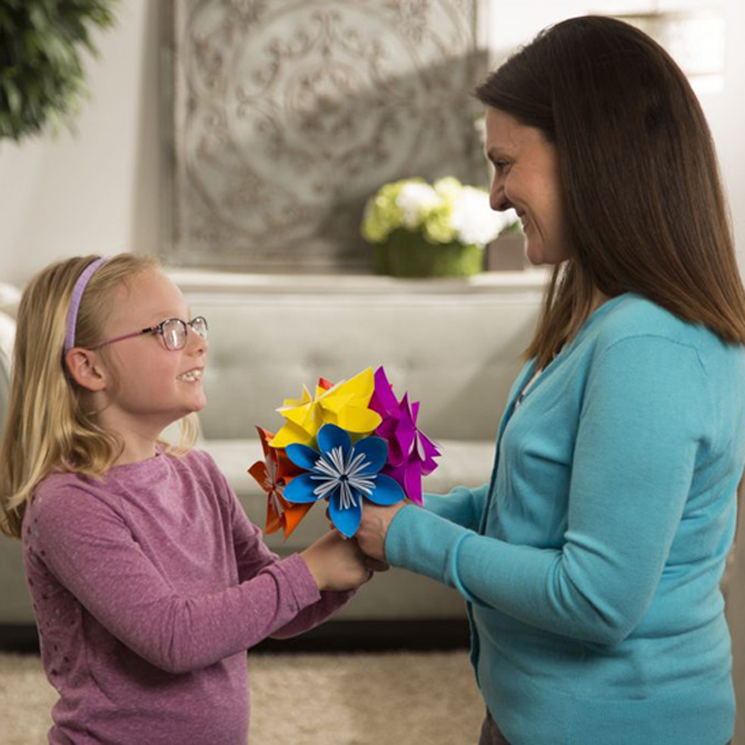 DIY Craft: Make an Origami Paper Flower for Mother's Day