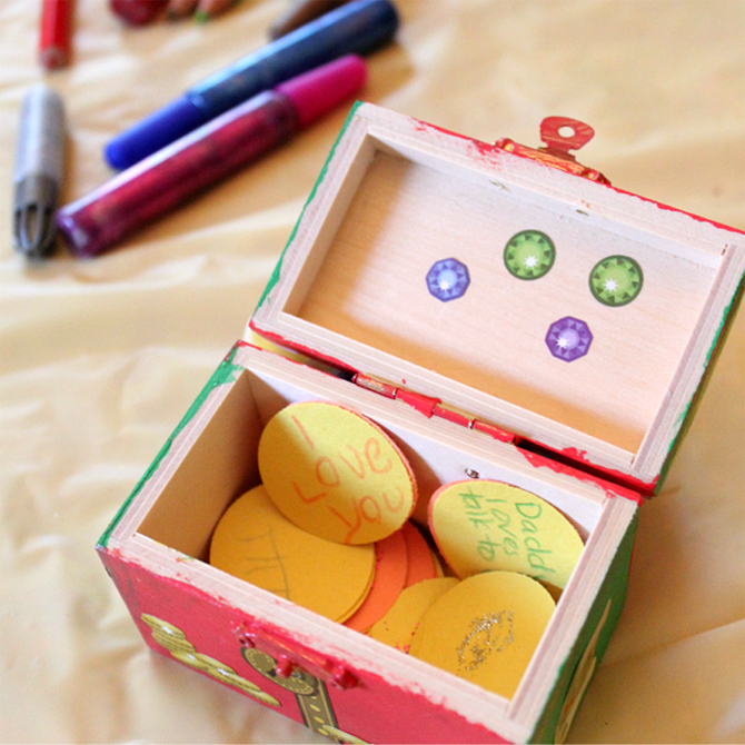 DIY Father's Day Treasure Chest Craft