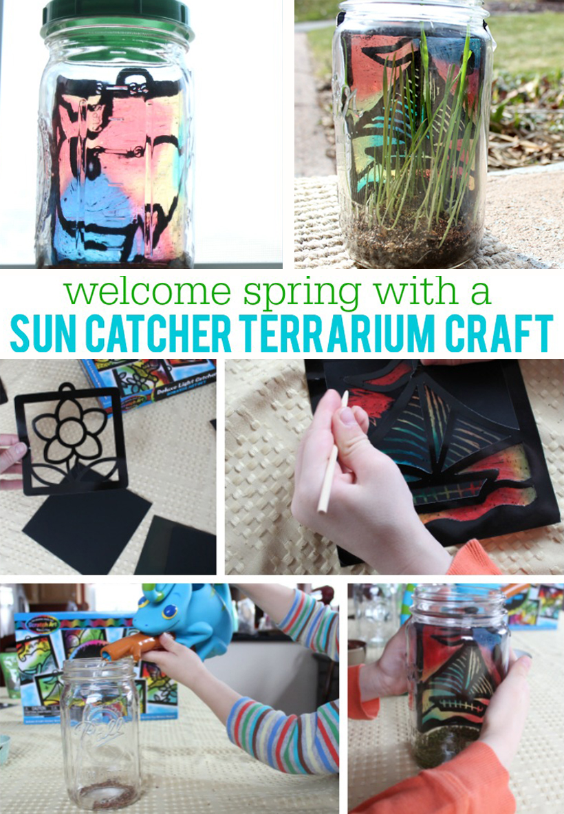Welcome Spring with a Sun Catcher Terrarium Craft