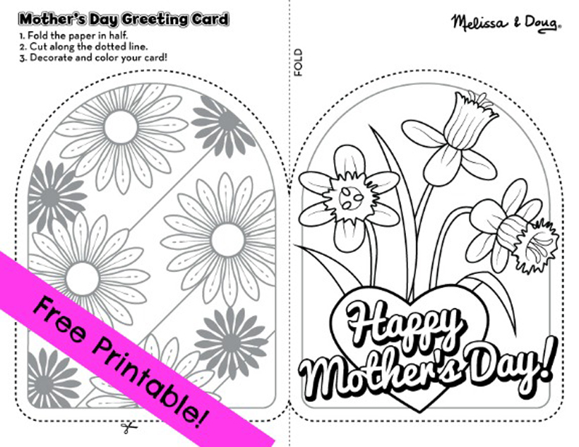 picture relating to Printable Mothers Day Cards to Color called Totally free Moms Working day Printables Crafts for Young children Melissa