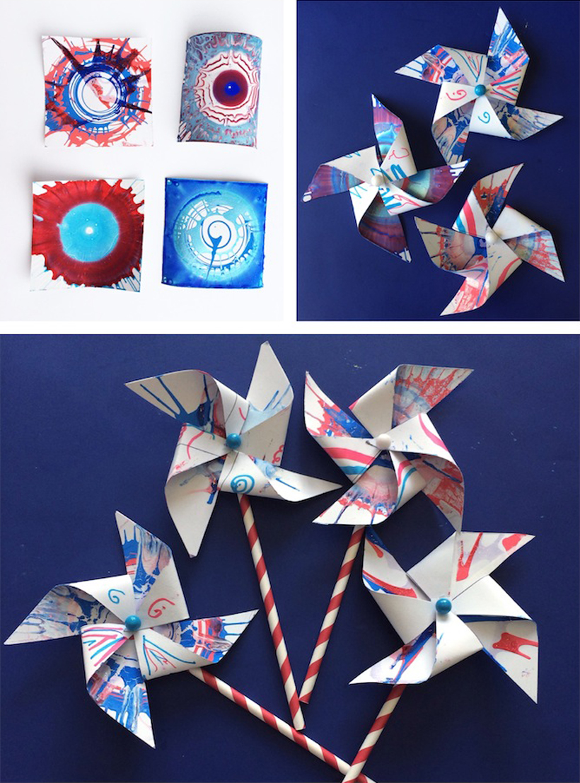 Stacy Shares: Patriotic Pinwheels Craft