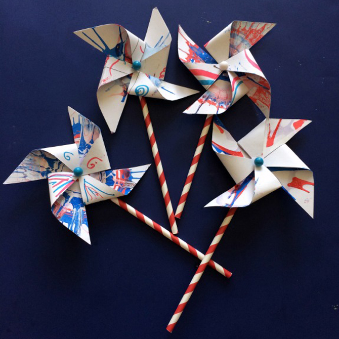 DIY Patriotic Pinwheels Craft for Kids