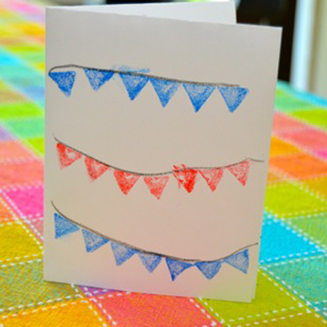 Easy Patriotic Note Cards Craft for Kids