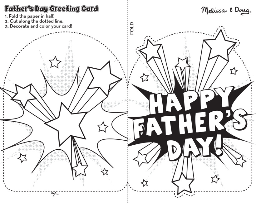 graphic relating to Father's Day Printable Cards referred to as Absolutely free Printable Fathers Working day Card Craft for Little ones Melissa