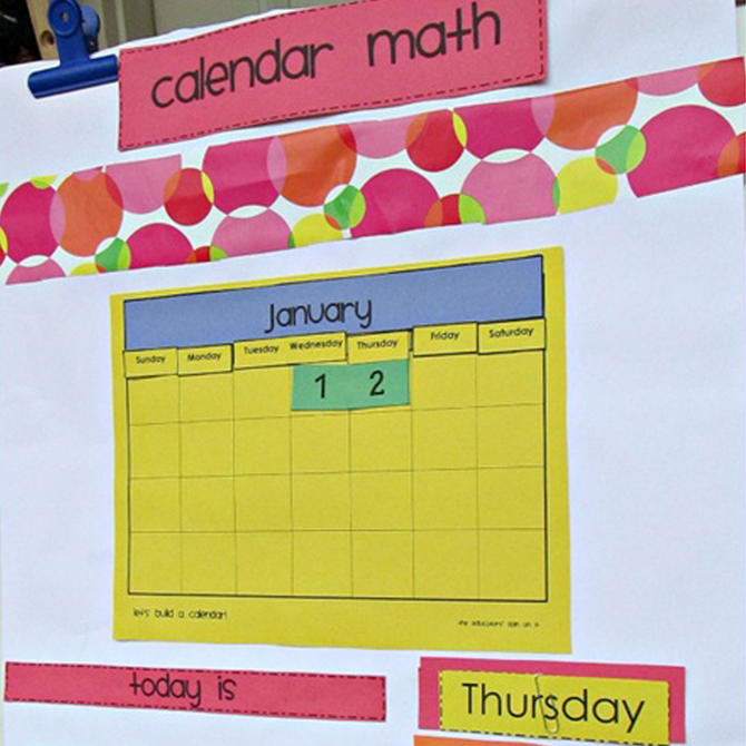Making a DIY Calendar with Preschoolers: Part Two