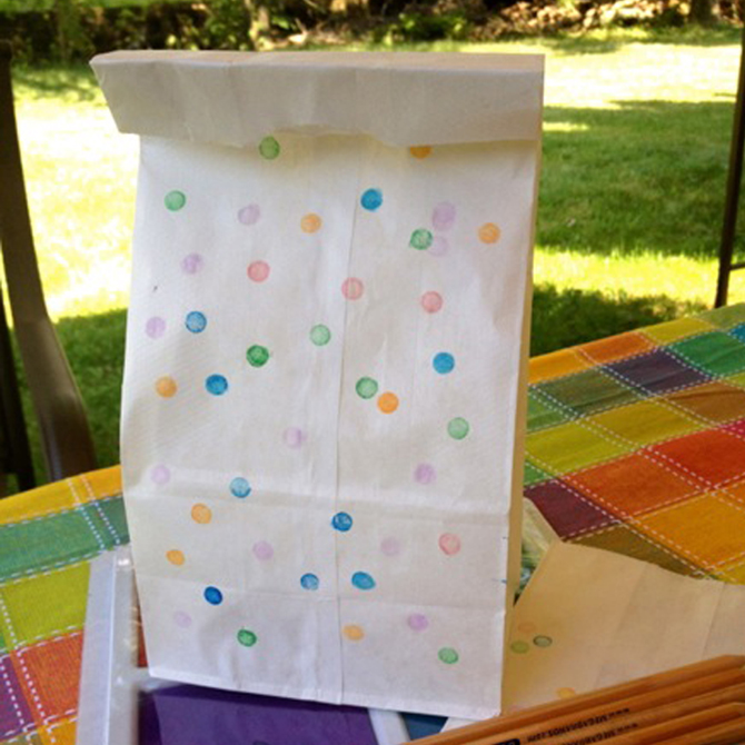 Val's Crafty Corner: Confetti Stamped Lunch Bags