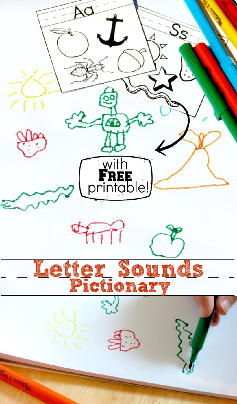 graphic relating to Printable Pictionary Cards referred to as Letter Seems Pictionary additionally a No cost Printable! Melissa