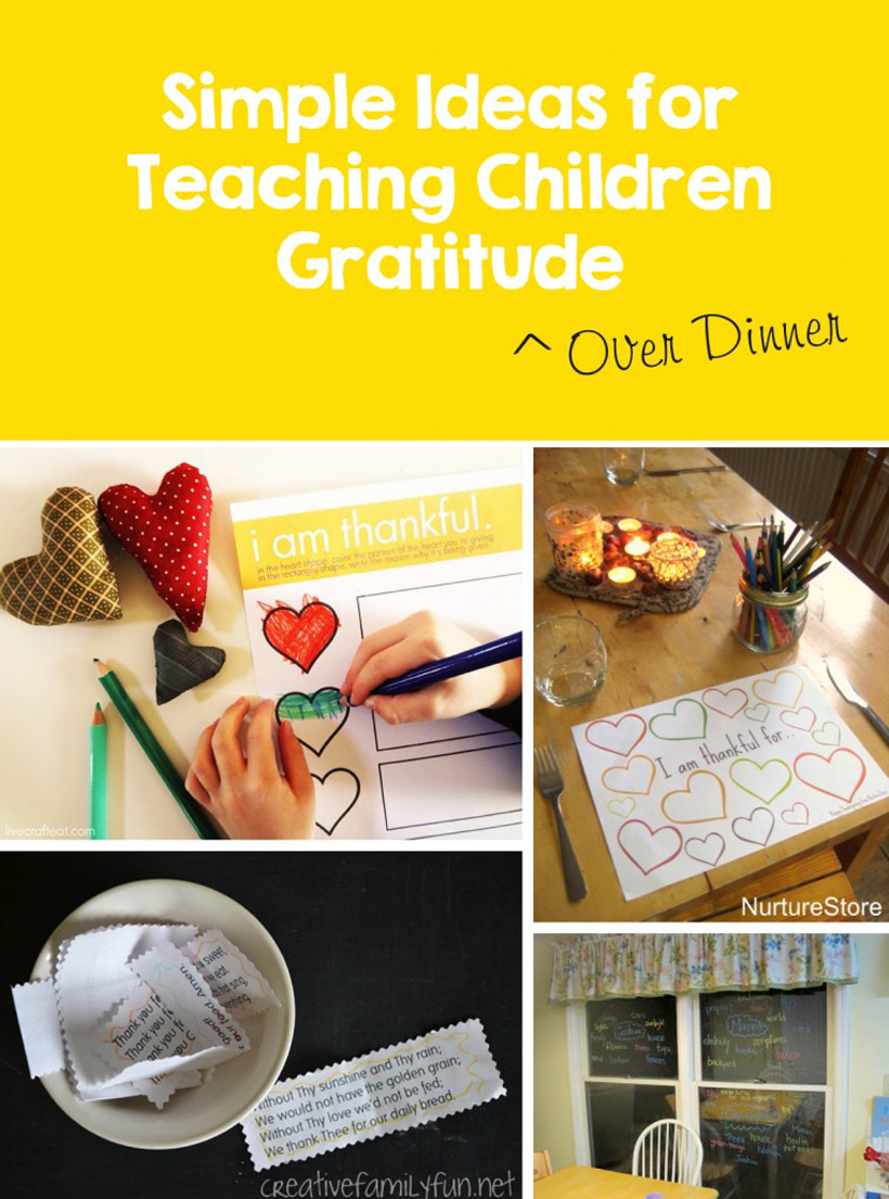 The Family Kitchen: 5 Activities for Teaching Children Gratitude *Check out 5 creative activities and free printables to help teach children gratitude, on the Melissa & Doug Blog.