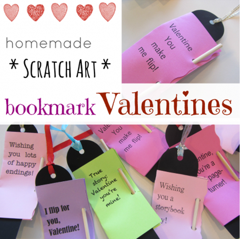 How to Make Homemade Scratch Art Valentines *Learn how kids can make Scratch Art Valentine bookmarks here - and get a free printable - on the Melissa & Doug Blog.