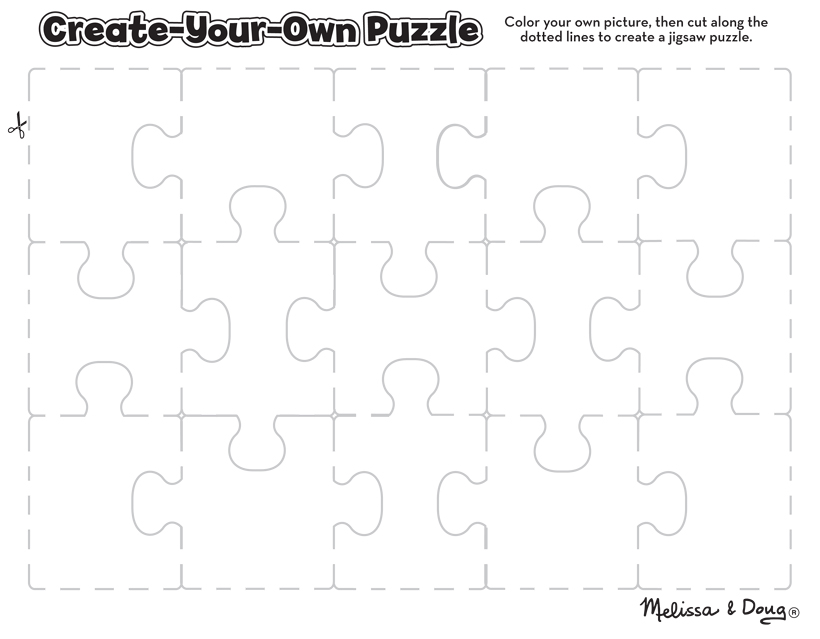 3 Free Printable Puzzles For Kids Children Can Make Their Own Unique