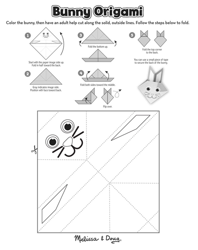Celebrate Spring By Making Your Own Diy Origami Bunny Crafts Using This Free Printable On