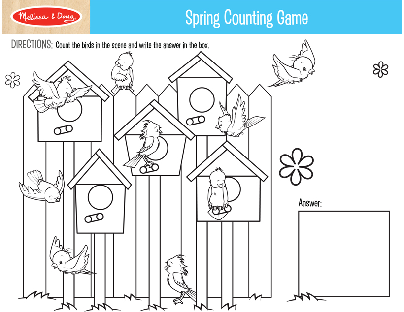 image relating to Spring Printable referred to as 2 Totally free Printables for Spring Crafts! Melissa Doug Site