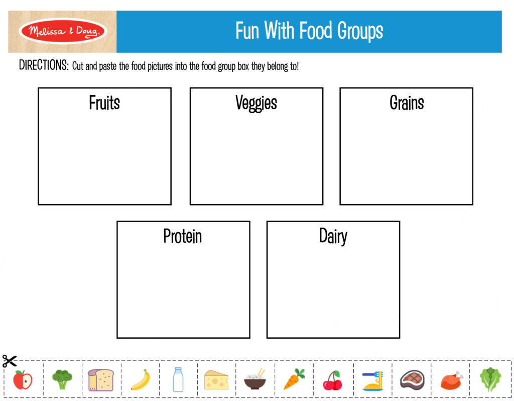 photo relating to Printables Food identified as 3 Totally free Printables for Young children Vitamins Things to do! Melissa