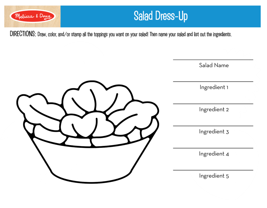 3 FREE Printables for Kids Nutrition Activities! | Melissa & Doug Blog