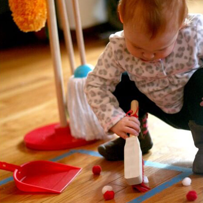 Simple Tip for Teaching Toddler Chores