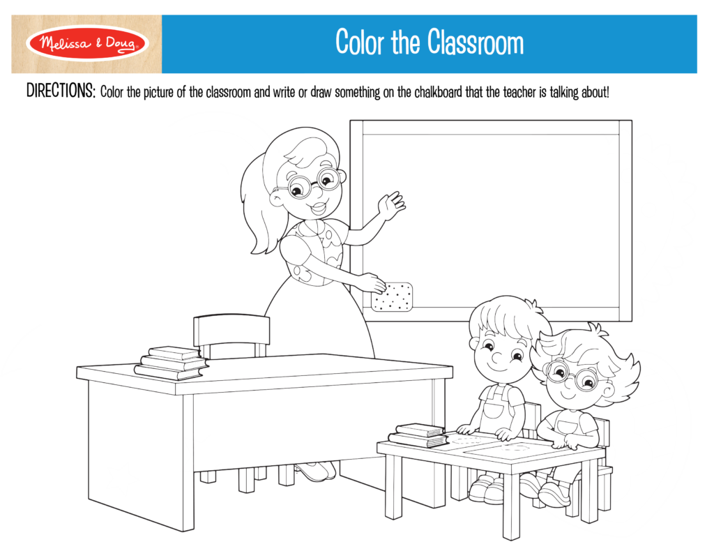 Color the Classroom Printable