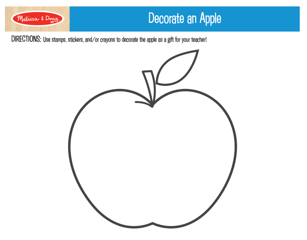 Decorate an Apple Printable