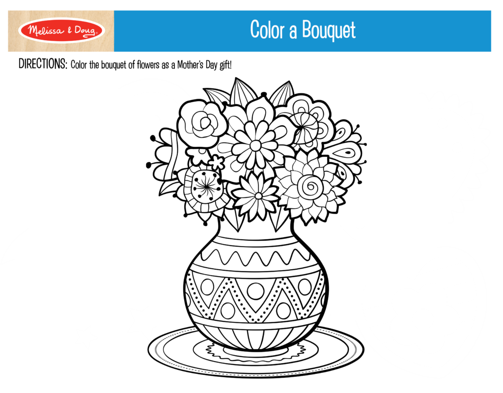 Color a Bouquet Printable
