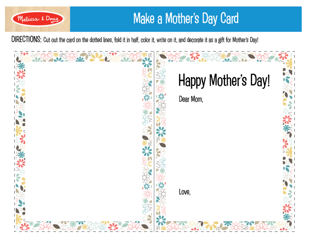 Make a Mother's Day Card Printable