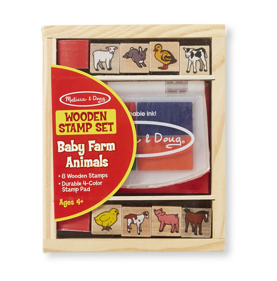 Wooden Stamp Set – Baby Farm Animals